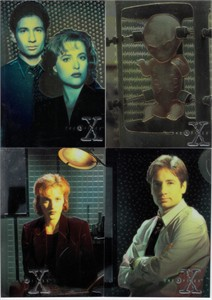 X-Files Topps Season 1 Finest Chromium 4 card insert set