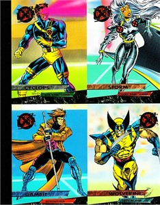 X-Men 1994 Ultra 4 promo card panel (Cyclops Gambit Storm Wolverine)