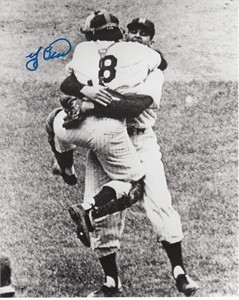 Yogi Berra autographed New York Yankees 8x10 photo with Don Larsen