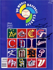 Team Japan autographed 2009 WBC program Yu Darvish Murata Uchikawa