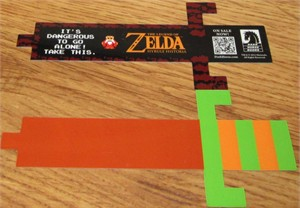 Legend of Zelda sword plastic 2013 Dark Horse Comics promo bookmark MINT